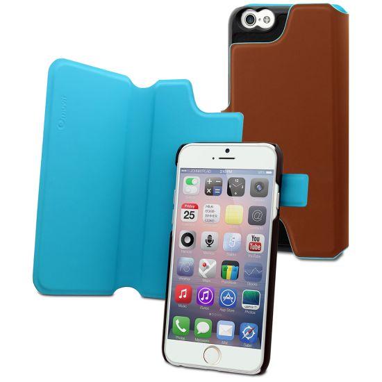 Muvit Magic Reverso - Etui en Plastique rigide pour iPhone 6(s) Plus - Marron / Turquoise