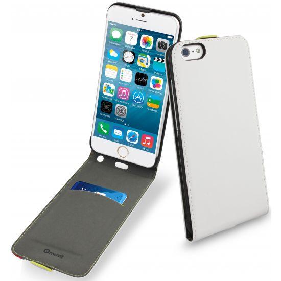 Muvit Slim - Etui à clapet pour iPhone 6(s) Plus - Blanc