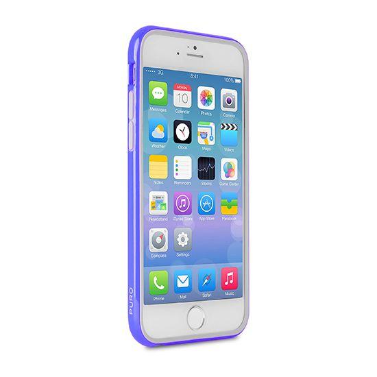 Puro Bumper - Antichoc en Plastique rigide pour iPhone 6(s) Plus - Bleu