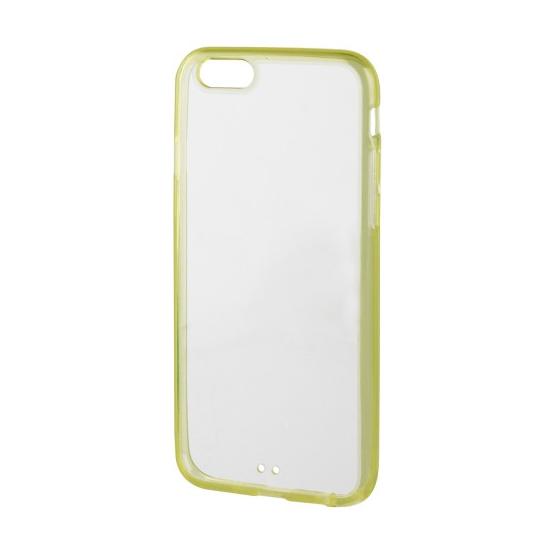 Xqisit iPlate - Coque arrière en Plastique rigide pour iPhone 6(s) - Lime / Transparent