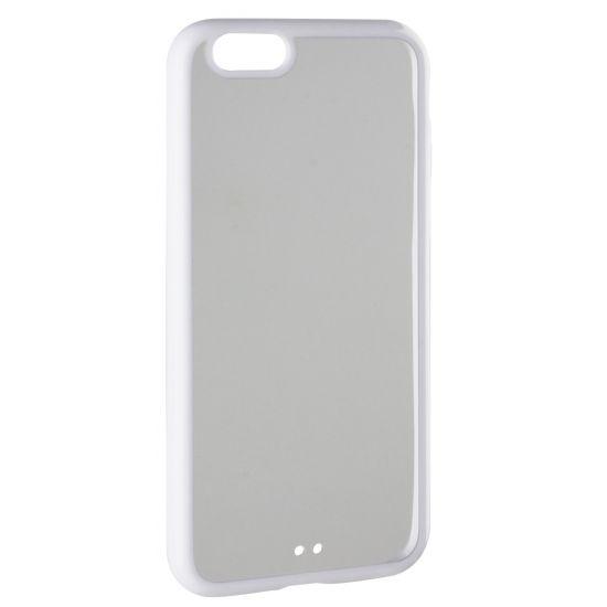 Xqisit iPlate - Coque arrière en Plastique rigide pour iPhone 6(s) - Blanc