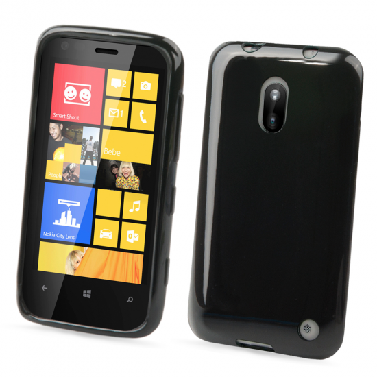 Muvit Minigel Glazy - Coque arrière en TPU pour Nokia Lumia 620 - Noir