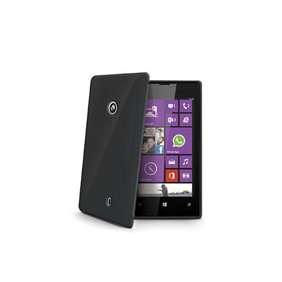 Celly Gelskin - Coque arrière en TPU pour Nokia Lumia 520 - Noir