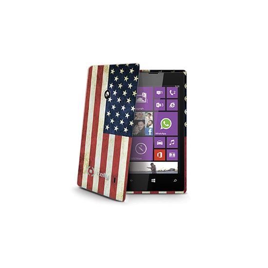 Celly Gelskin - Coque arrière en TPU pour Nokia Lumia 520 - Drapeau Vintage USA