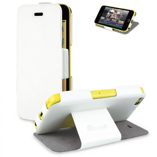 Muvit iFlip Folio - Etui pour iPhone 5C - Blanc