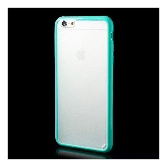 Mobigear Acrylic - Coque arrière en Plastique rigide pour iPhone 6(s) Plus - Transparent / Turquoise