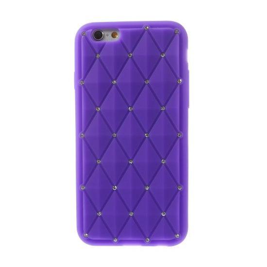 Mobigear Diamond - Coque arrière en Silicone pour iPhone 6(s) - Lilas