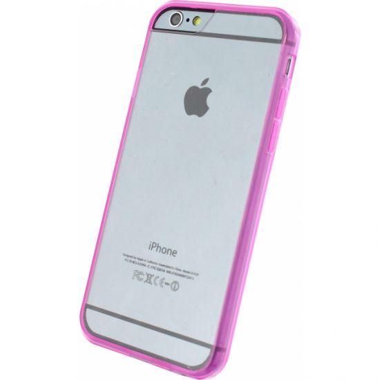 Xccess Rubber - Coque arrière en Plastique rigide pour iPhone 6(s) - Transparent / Rose