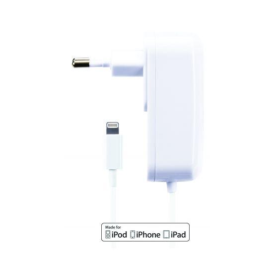 Gecko Solo - Chargeur Apple Lightning 1.5 mètres 10W 2.1A - Blanc