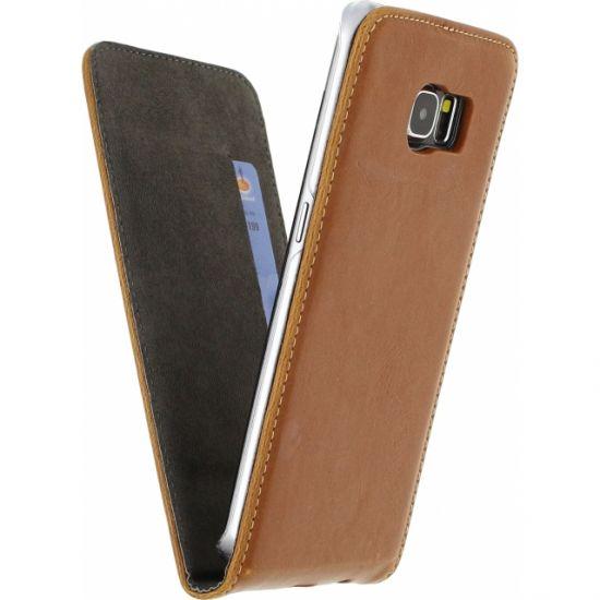 Mobilize Premium Magnet - Etui à clapet pour Samsung Galaxy S6 Edge - Marron