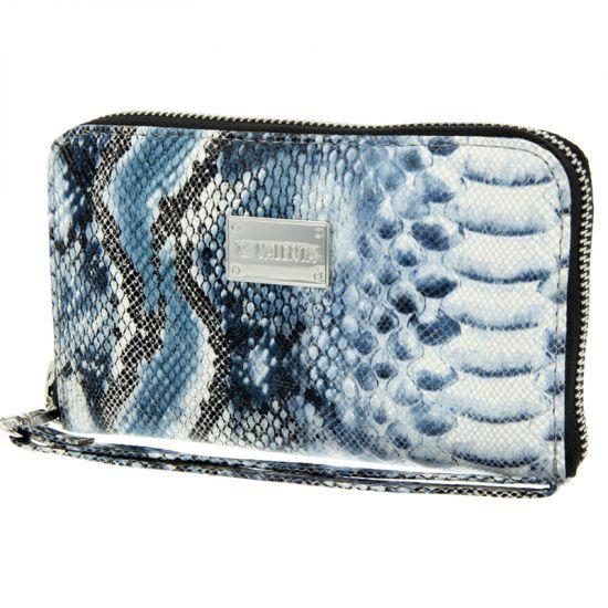 Valenta Luxury Handbag - Sac à main en Cuir véritable Universel - Blue Snake