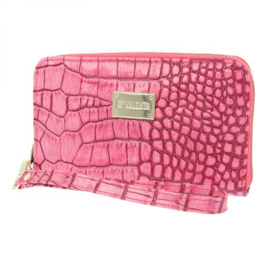 Valenta Luxury Handbag - Sac à main en Cuir véritable Universel - Pink Animal Glam