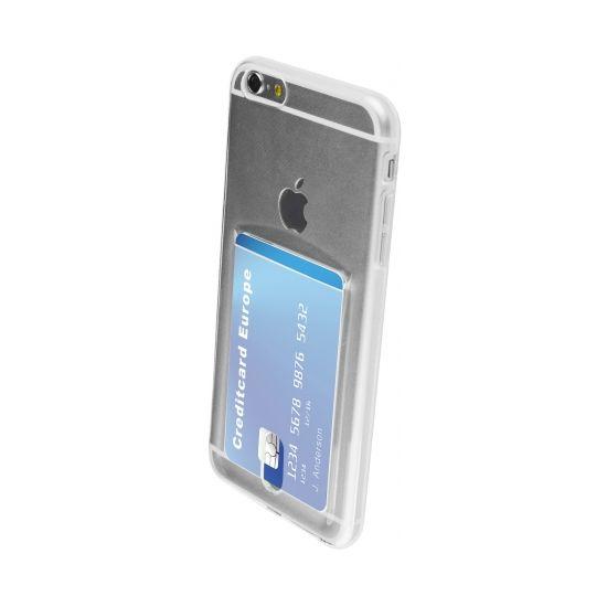 Mobiparts Smart Creditcard - Coque arrière en TPU pour iPhone 6(s) Plus - Transparent