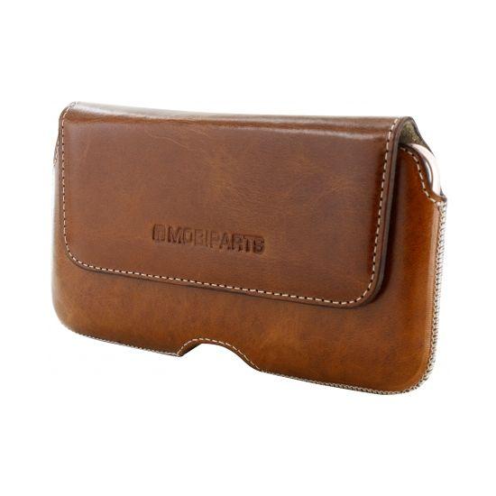 Mobiparts Excellent Belt - Etui de ceinture en Cuir véritable Universel 3XL - Oaked Cognac