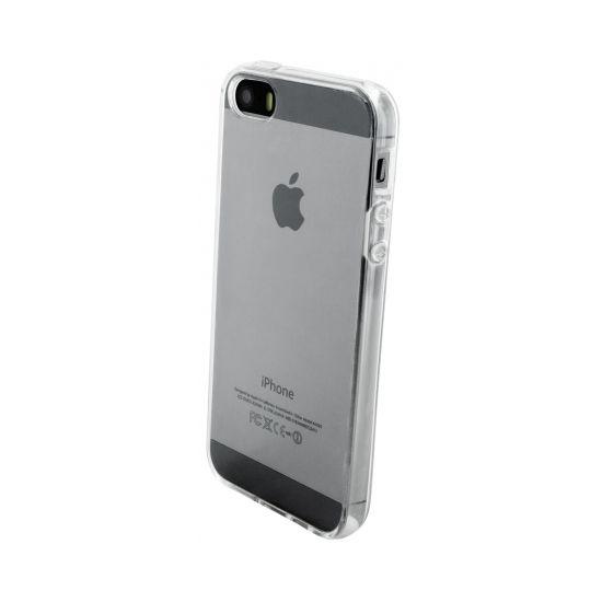 Mobiparts Essential - Coque arrière en TPU pour iPhone SE (2016) / 5S / 5 - Transparent