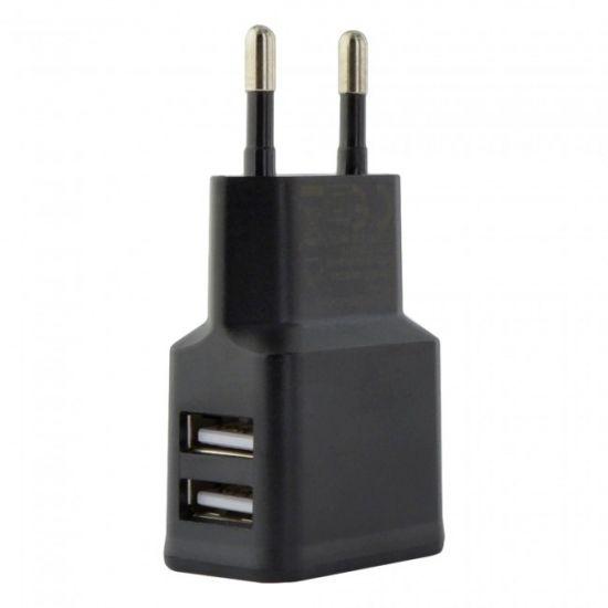 Grab n Go - Double USB Chargeur 12W 2.4A - Noir