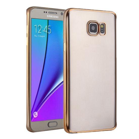 Mobigear Royal - Coque arrière en TPU pour Samsung Galaxy S7 - Transparent / Or
