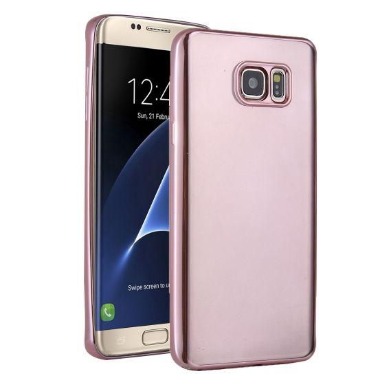 Mobigear Royal - Coque arrière en TPU pour Samsung Galaxy S7 Edge - Transparent / Rose doré