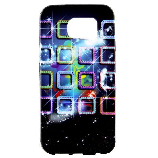 Mobigear Design - Coque arrière en TPU pour Samsung Galaxy S7 Edge - Dazzling Grids
