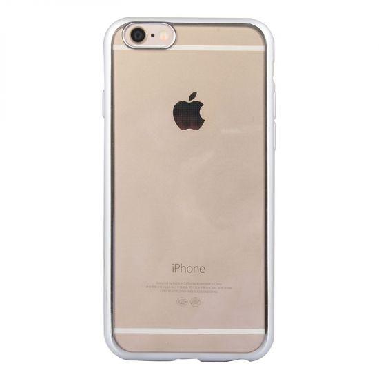 Mobigear Royal - Coque arrière en TPU pour iPhone 6(s) - Transparent / Argent