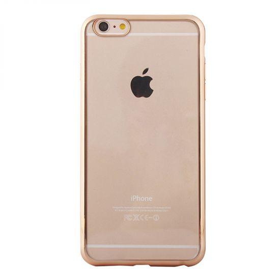 Mobigear Royal - Coque arrière en TPU pour iPhone 6(s) - Transparent / Or