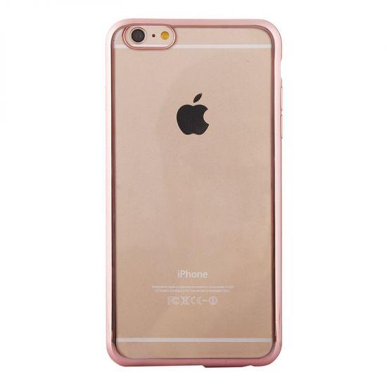 Mobigear Royal - Coque arrière en TPU pour iPhone 6(s) - Transparent / Rose