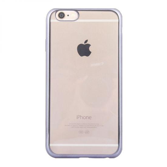 Mobigear Royal - Coque arrière en TPU pour iPhone 6(s) - Transparent / Noir