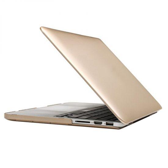 Mobigear Metallic - Housse en Plastique rigide pour MacBook Pro 15 pouces A1398 - Or