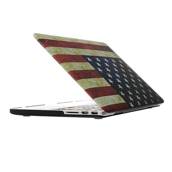 Mobigear Design - Housse en Plastique rigide pour MacBook Pro 13 pouces A1425 / A1502 - Vintage US Drapeau