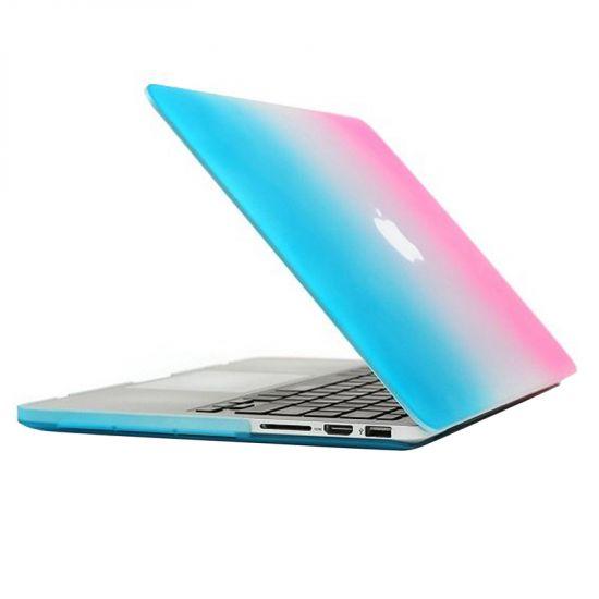 Mobigear Matte - Housse en Plastique rigide pour MacBook Pro 13 pouces A1425 / A1502 - Bleu / Rose