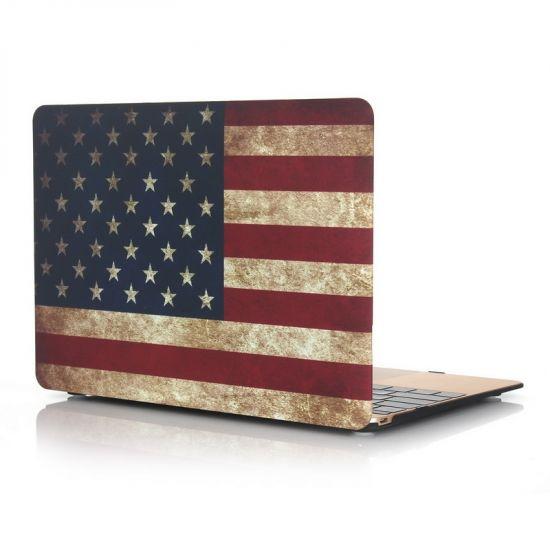 Mobigear Design - Housse en Plastique rigide pour MacBook 12 pouces A1534 - Vintage US Drapeau