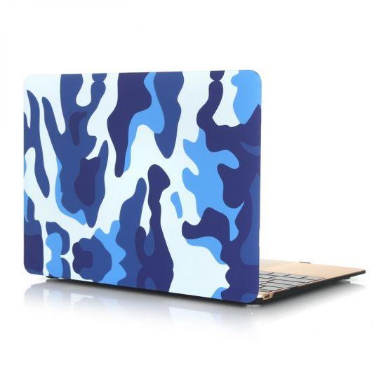 Mobigear Camouflage - Housse en Plastique rigide pour MacBook 12 pouces - Camouflage Bleu