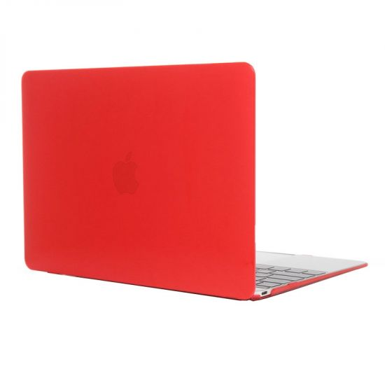 Mobigear Glossy - Housse en Plastique rigide pour MacBook 12 pouces A1534 - Rouge