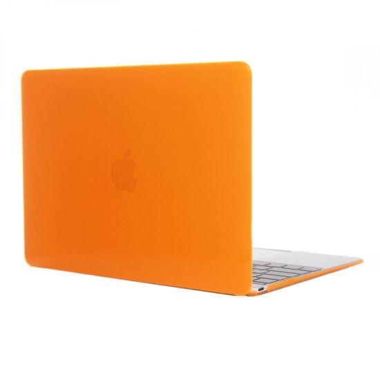 Mobigear Glossy - Housse en Plastique rigide pour MacBook 12 pouces A1534 - Orange