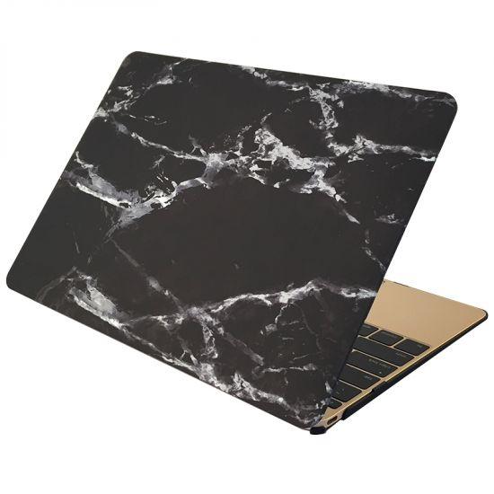 Mobigear Marble - Housse en Plastique rigide pour MacBook 12 pouces A1534 - Noir