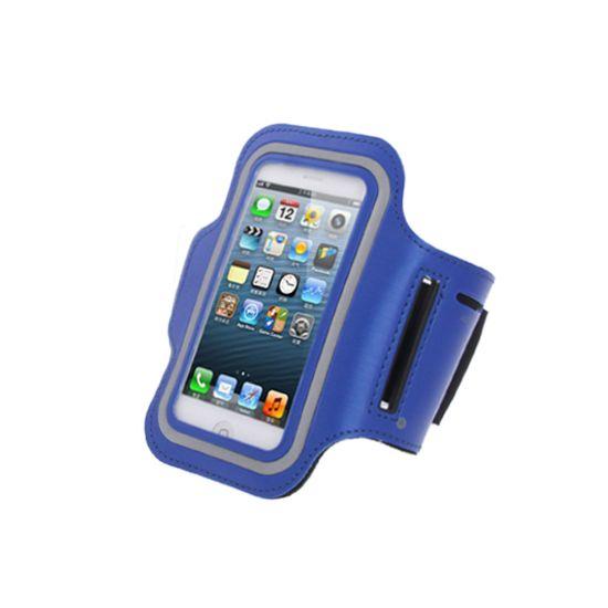 Mobigear - Brassard en Neoprène pour iPhone SE (2016) / 5S / 5C / 5 - Bleu