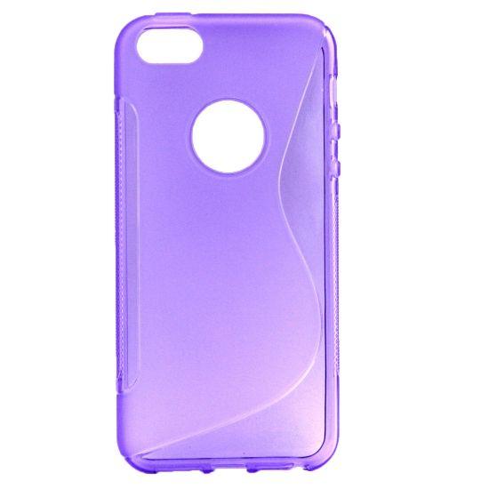 Mobigear S-Line - Coque arrière en TPU pour iPhone SE (2016) / 5S / 5 - Lilas