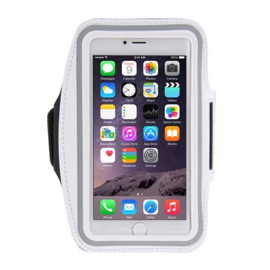 Mobigear - Brassard en Neoprène pour iPhone 8 Plus / 7 Plus / 6(s) Plus - Blanc