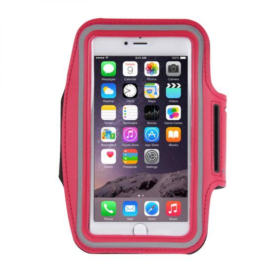 Mobigear - Brassard en Neoprène pour iPhone 8 Plus / 7 Plus / 6(s) Plus - Rouge