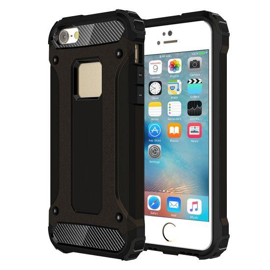 Mobigear Outdoor - Coque arrière en Plastique rigide pour iPhone SE (2016) / 5S / 5 - Noir