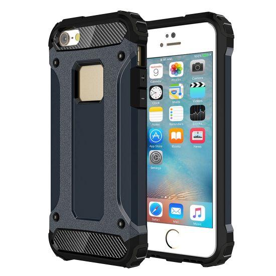 Mobigear Outdoor - Coque arrière en Plastique rigide pour iPhone SE (2016) / 5S / 5 - Dark Blue