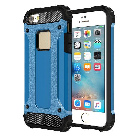 Mobigear Outdoor - Coque arrière en Plastique rigide pour iPhone SE (2016) / 5S / 5 - Bleu