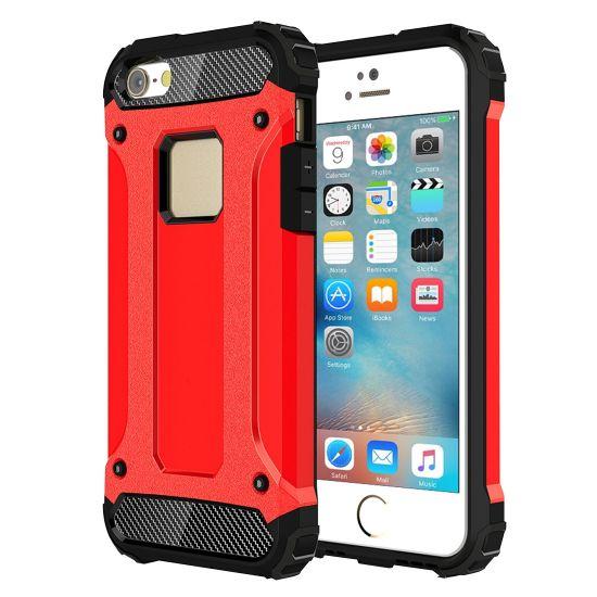 Mobigear Outdoor - Coque arrière en Plastique rigide pour iPhone SE (2016) / 5S / 5 - Rouge