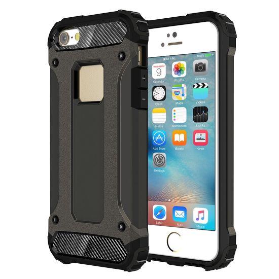 Mobigear Outdoor - Coque arrière en Plastique rigide pour iPhone SE (2016) / 5S / 5 - Gunmetal