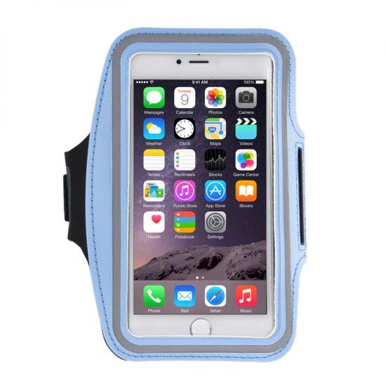Mobigear - Brassard en Neoprène pour iPhone 8 Plus / 7 Plus / 6(s) Plus - Bleu