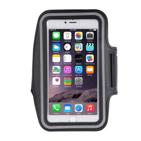 Mobigear - Brassard en Neoprène pour iPhone 8 Plus / 7 Plus / 6(s) Plus - Noir