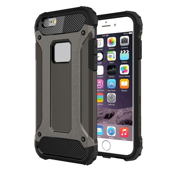 Mobigear Outdoor - Coque arrière en Plastique rigide pour iPhone 6(s) Plus - Noir