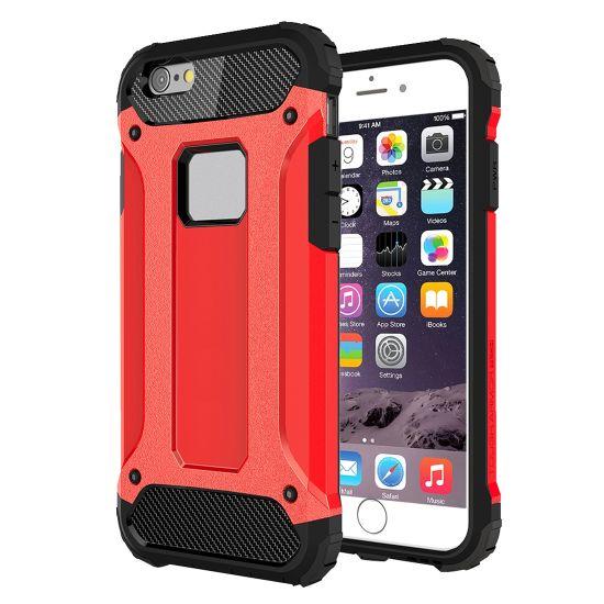 Mobigear Outdoor - Coque arrière en Plastique rigide pour iPhone 6(s) Plus - Rouge