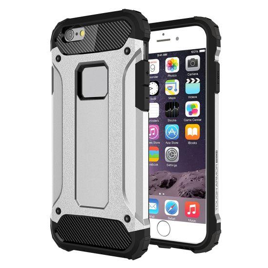 Mobigear Outdoor - Coque arrière en Plastique rigide pour iPhone 6(s) Plus - Argent