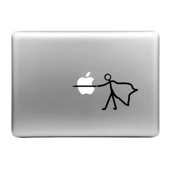 Mobigear Design - Autocollant pour MacBook Air / Pro (2008-2015) - Plug the Apple
